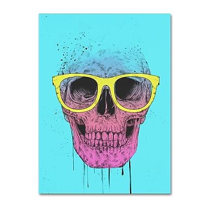 Trademark Fine Art Balazs Solti 'Pop Art Skull With Glasses' 14