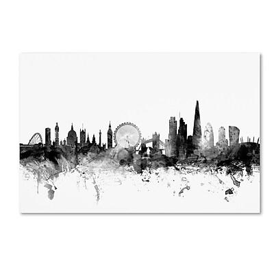 Trademark Fine Art Michael Tompsett 'London England Skyline B&W' 12