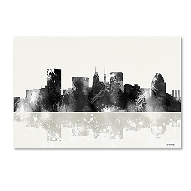 Trademark Fine Art Marlene Watson 'Baltimore Maryland Skyline BG-1' 12