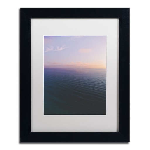 "Trademark Fine Art Ariane Moshayedi 'Ocean Horizon Sunset' 11"" x 14"" Matted Framed (190836271405)"