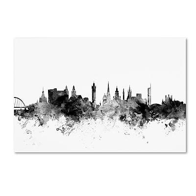 Trademark Fine Art Michael Tompsett 'Glasgow Scotland Skyline B&W' 12