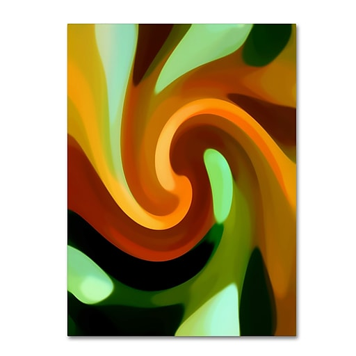 "Trademark Fine Art Amy Vangsgard 'Wind In Tree Vertical 1' 14"" x 19"" Canvas Stretched (886511938854)"