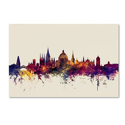 Trademark Fine Art Michael Tompsett 'Oxford England Skyline' 12