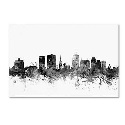 Trademark Fine Art Michael Tompsett 'Christchurch NZ Skyline B&W' 12