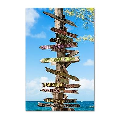 Trademark Fine Art Philippe Hugonnard 'Destination Signs' 12
