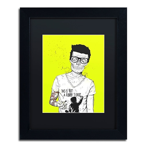 "Trademark Fine Art Balazs Solti 'Hipsters Not Dead Color' 11"" x 14"" Matted Framed (190836181056)"