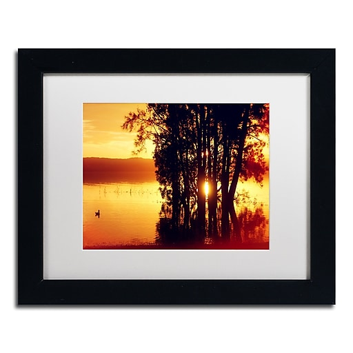 "Trademark Fine Art Beata Czyzowska Young 'Lonely at Sunset' 11"" x 14"" Matted Framed (190836184040)"