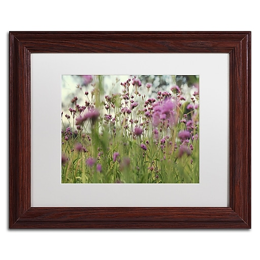 "Trademark Fine Art Beata Czyzowska Young 'Field of Purple' 11"" x 14"" Matted Framed (190836183609)"