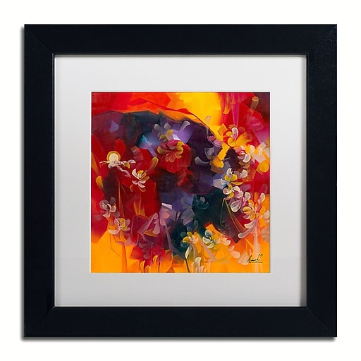 "Trademark Fine Art Andrea 'Hot Nights' 11"" x 11"" Matted Framed (190836010615)"