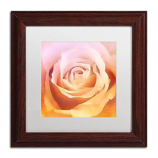 "Trademark Fine Art Adam Kadmos 'Rosie' 11"" x 11"" Matted Framed (190836066636)"