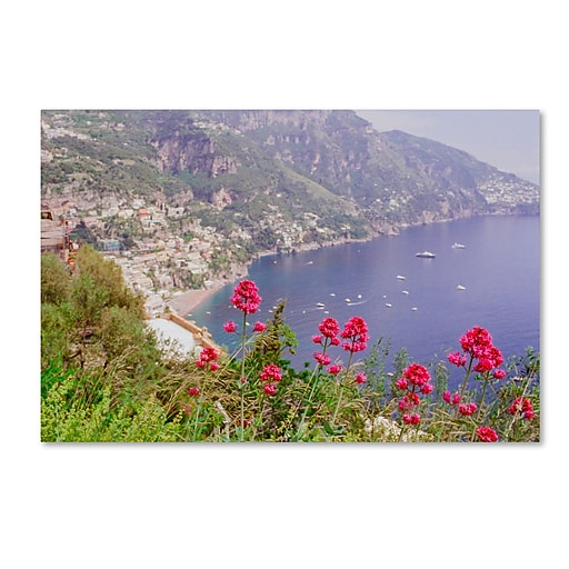 "Trademark Fine Art Ariane Moshayedi 'Amalfi Coast 2' 16"" x 24"" Canvas Stretched (190836262892)"