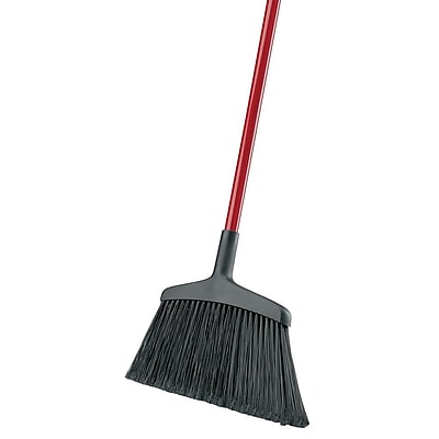 Libman Wide Commercial Angle Broom, Steel Handle, 6 Pack (#997)