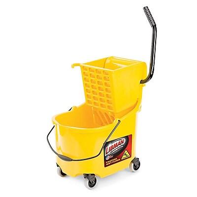 Libman 26 Quart Mop Bucket & Wringer Heavy Duty, Yellow (933)