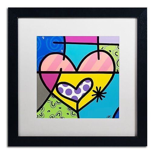 "Trademark Fine Art Roberto Rafael 'Big Heart I' 16"" x 16"" Matted Framed (190836280292)"