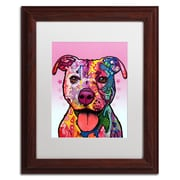 "Trademark Fine Art Dean Russo 'Cherish The Pitbull' 11"" x 14"" Matted Framed (190836146550)"