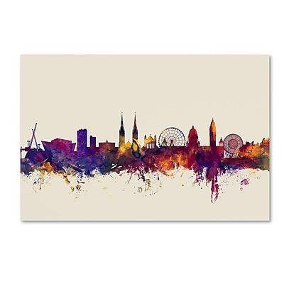 Trademark Fine Art Michael Tompsett 'Belfast North Ireland Skyline' 12