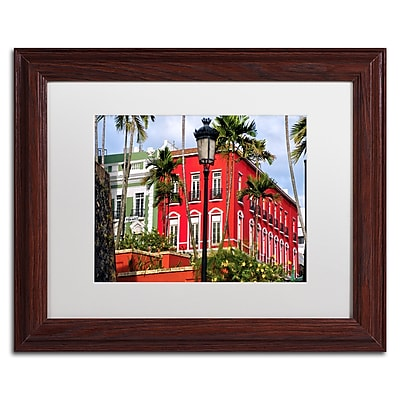 "Trademark Fine Art CATeyes 'Old San Juan 1' 11"" x 14"" Matted Framed (190836038176)"