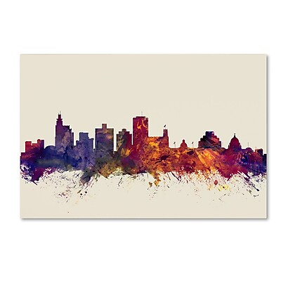 Trademark Fine Art Michael Tompsett 'Jackson Mississippi Skyline' 12