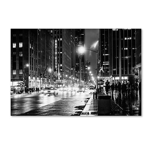 """Trademark Fine Art Philippe Hugonnard 'Night in Manhattan' 12"""" x 19"""" Canvas Stretched (190836053759)"""
