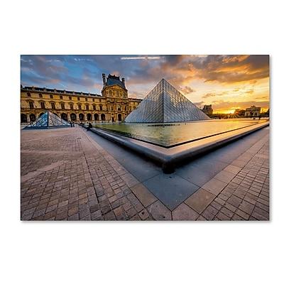 Trademark Fine Art Mathieu Rivrin 'Geometry of the Louvre Museum' 12