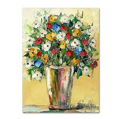 Trademark Fine Art Hai Odelia 'Spring Flowers in a Vase 9' 14