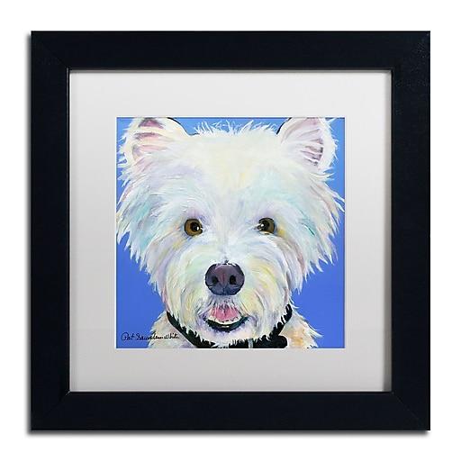 "Trademark Fine Art Pat Saunders-White 'Amos' 11"" x 11"" Matted Framed (190836056002)"
