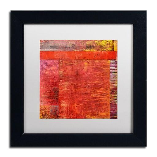 "Trademark Fine Art Michelle Calkins 'Essence of Red 2' 11"" x 11"" Matted Framed (190836071951)"