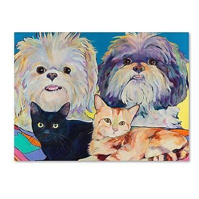 Trademark Fine Art Pat Saunders-White 'Family' 14
