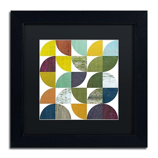"Trademark Fine Art Michelle Calkins 'Rustic Rounds 1.0' 11"" x 11"" Matted Framed (190836101221)"