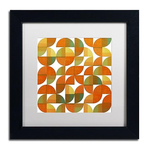 "Trademark Fine Art Michelle Calkins 'Sixty Four Quarters' 11"" x 11"" Matted Framed (190836102990)"