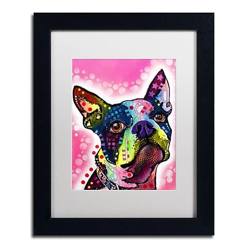"Trademark Fine Art Dean Russo 'Boston Terrier' 11"" x 14"" Matted Framed (190836149599)"