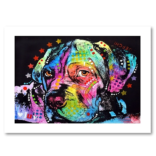 "Trademark Fine Art Dean Russo 'Young Mastiff' 18"" x 24"" Paper Rolled (190836159321)"