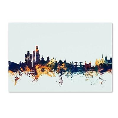 Trademark Fine Art Michael Tompsett 'Amsterdam Skyline Blue' 12