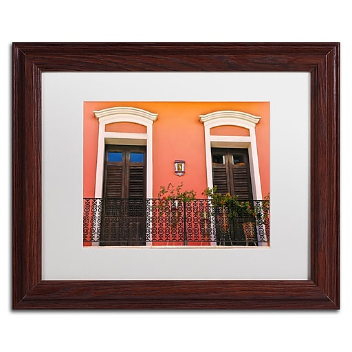 "Trademark Fine Art CATeyes 'Old San Juan 15' 11"" x 14"" Matted Framed (190836040513)"