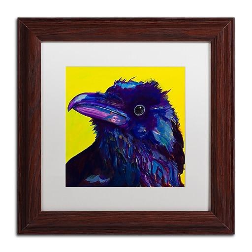 """Trademark Fine Art Pat Saunders-White 'Corvus' 11"""" x 11"""" Matted Framed (190836058532)"""