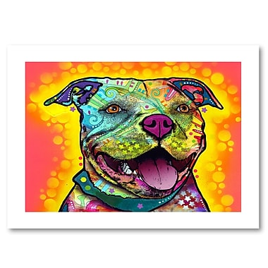 Trademark Fine Art Dean Russo 'Dewey Pit Bull' 18