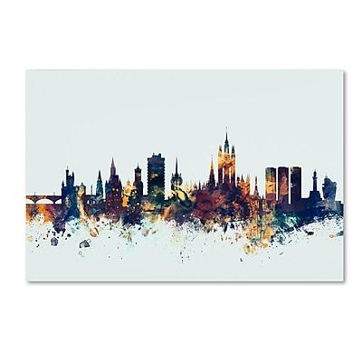 Trademark Fine Art Michael Tompsett 'Aberdeen Scotland Skyline Blue' 12