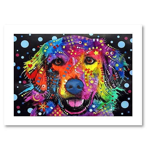 "Trademark Fine Art Dean Russo 'Golden Retriever II' 18"" x 24"" Paper Rolled (190836161874)"