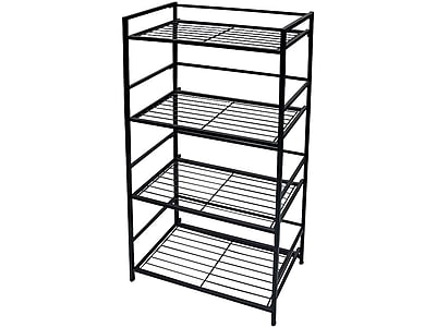 "Advantus FlipShelf 4-Shelf Metal Unit, 26.5""W, Black (37996/37634)"