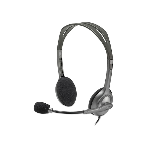 Logitech H111 Stereo Noise-Canceling Computer Headset, Over-the-Head, Black (981-000612)