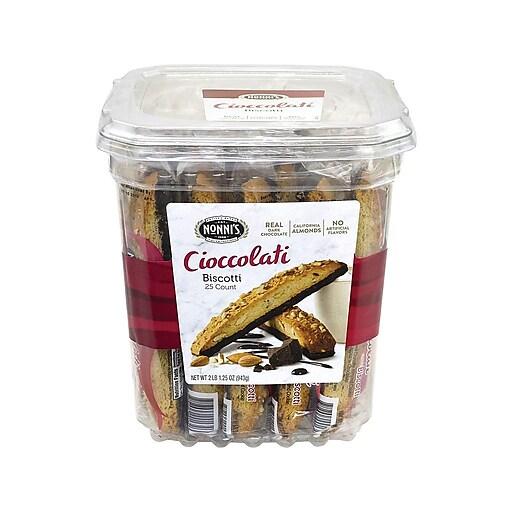 Nonni's Biscotti Cookies, Cioccolati, 1.34 Oz., 25/Pack (209-00322)