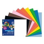 "Tru-Ray 12""W x 18""L Construction Paper, Assorted Colors, 50/Pack (103063)"