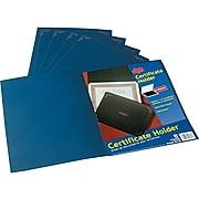 """Oxford 11.25""""W x 8.75""""L Certificate Holders, Dark Blue, 5/Pack"""