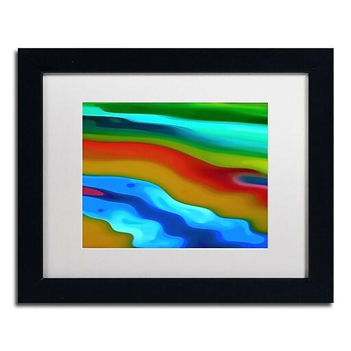 """Trademark Fine Art Amy Vangsgard 'River Runs Through 2' 11"""" x 14"""" Matted Framed (886511935228)"""
