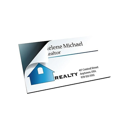 "The Magnet Source Business Cards, 3.5""W x 2""L, 100/Pack (39298-US/MC100)"