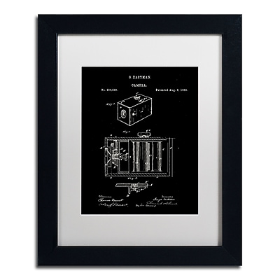 Trademark Fine Art Claire Doherty 'George Eastman Camera Patent Black' 11