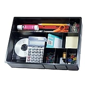 OfficeMate Plastic Drawer Organizer, Black (21322)