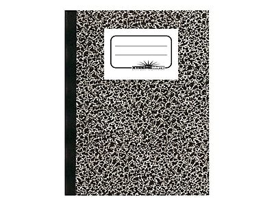 """National Brand Composition Notebook, 7.87"""" x 10"""", 80 Sheets, College Ruled, Black (43461)"""