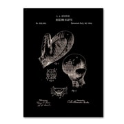 """Trademark Fine Art Claire Doherty 'Boxing Gloves Patent 1894 Black' 14"""" x 19"""" Canvas Stretched (886511939196)"""