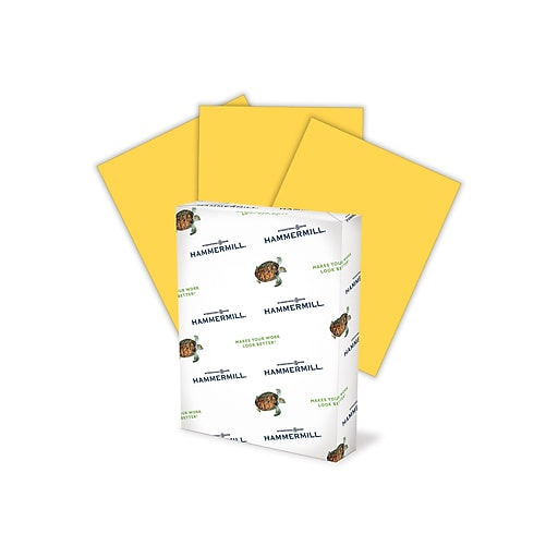 "Hammermill Colors Multipurpose Paper, 20 lbs, 8.5"" x 11"", Goldenrod, 500 Sheets/Ream (10316-8)"